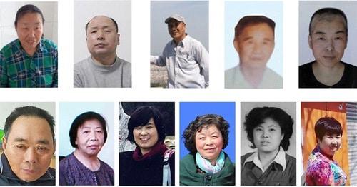Practitioners who died in the first half of 2020  Upper row: Xiao Yongfen, Hu Lin, Yu Yongman, Li Rongfeng, Li Guojun Lower row: Liu Fating, Fu Shuqin, Zhou Xiuzhen, Zhou Shujie, Lin Guizhi, Gao Yan